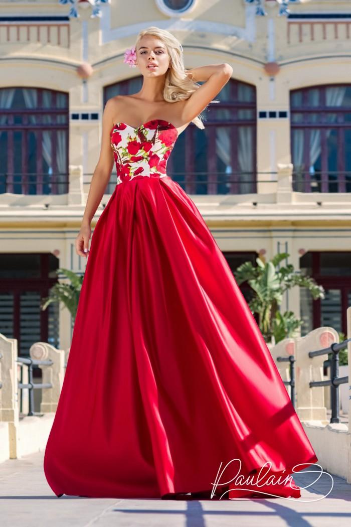 Страстное вечернее платье с экстравагантным принтом - АРГЕНТИНА   Paulain