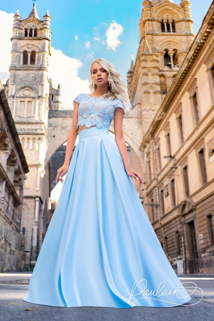 Эффектное вечернее платье с волшебными узорами - ДАНИЯ | Paulain