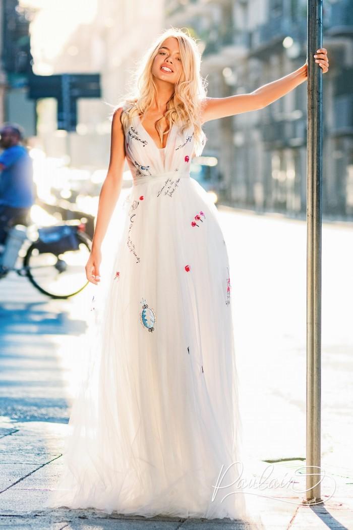 Легкое платье с женственным силуэтом и утонченными деталями - ЛОС-АНДЖЕЛЕС Макси | Paulain