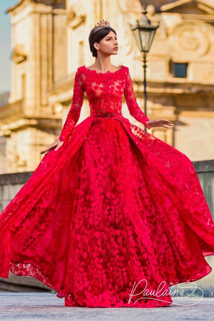 Кружевное вечернее платье волнующего силуэта - МОСКВА | Paulain