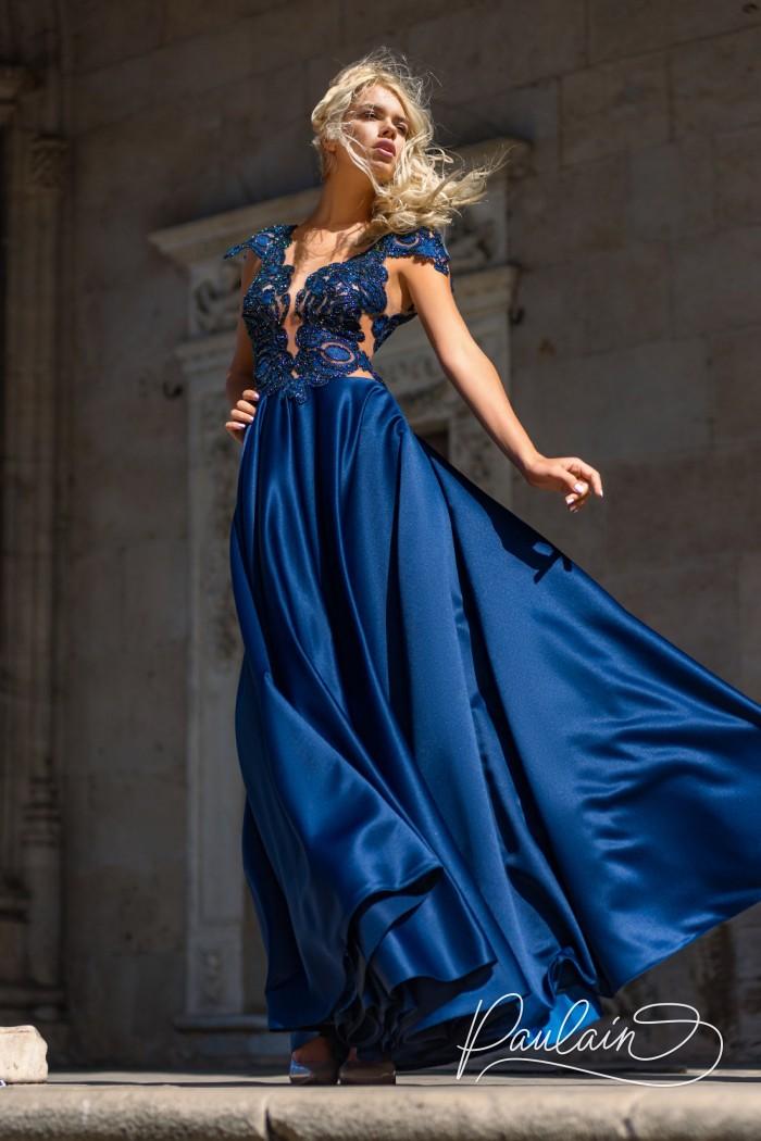 Длинное вечернее платье с завораживающими узорами - ПАЛЕРМО | Paulain