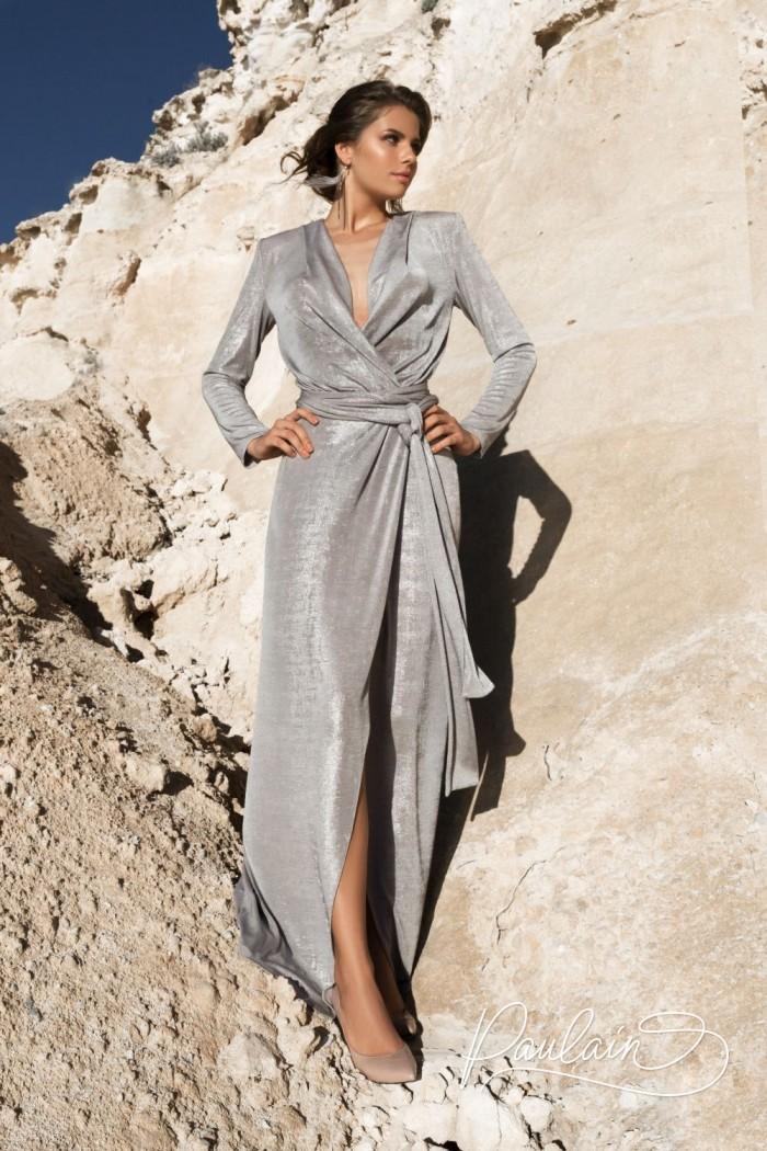 Дизайнерское роскошное вечернее платье в стилистике гламурных 70-х - АРИФ | Paulain