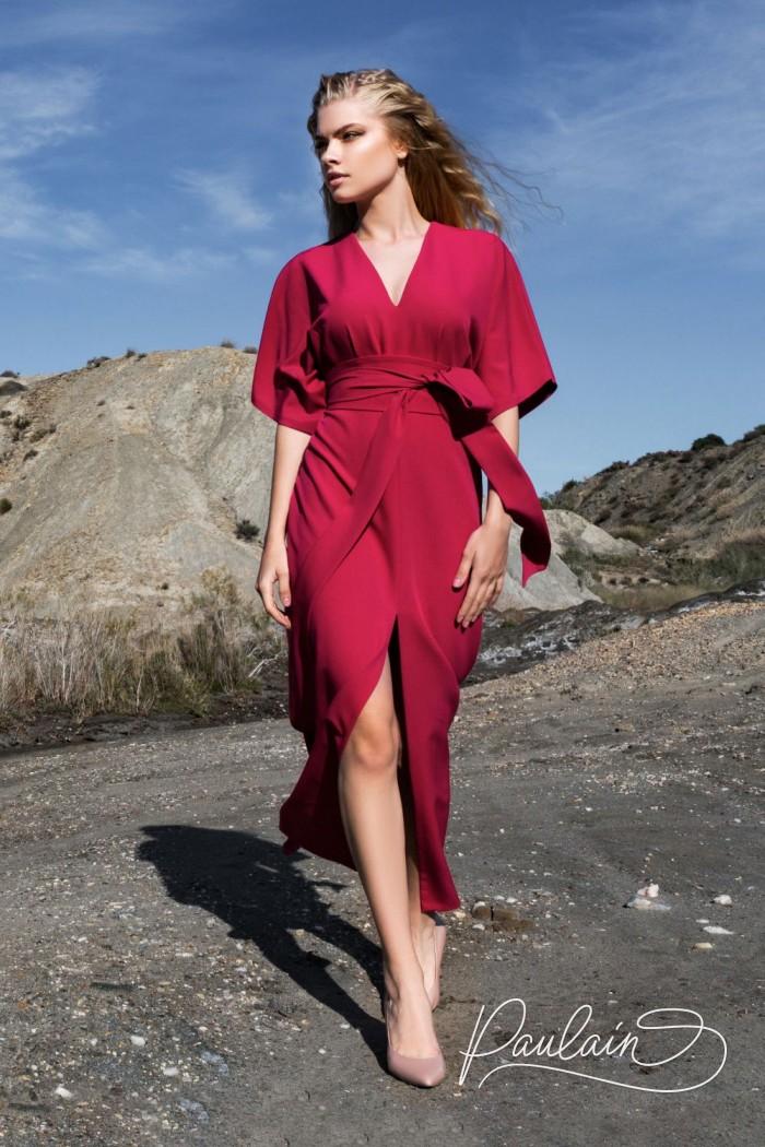 Вечернее платье минималистичного силуэта с женственным вырезом - ПЕН ЛИ | Paulain