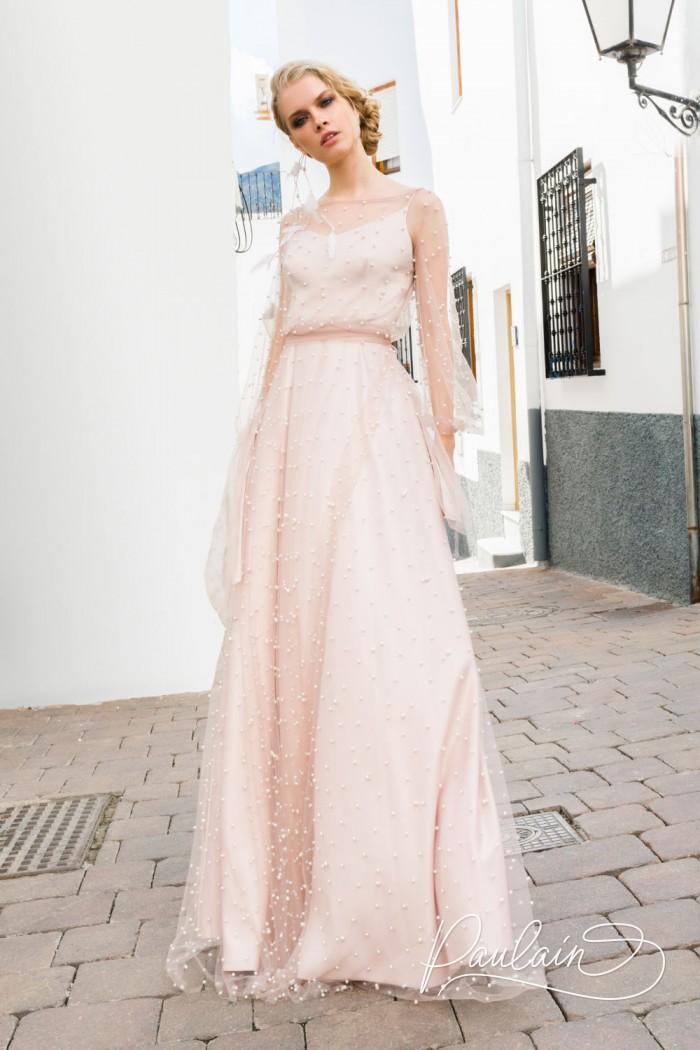 Легкое шелковое платье со вторым верхним прозрачным слоем - ЛОВЕЦ СНОВ | Paulain