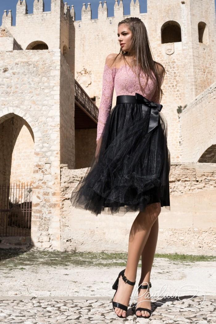 Женственное вечернее платье с дерзкой комбинацией оттенков и фактур - ДВОРЦОВЫЙ ПЕРЕВОРОТ | Paulain