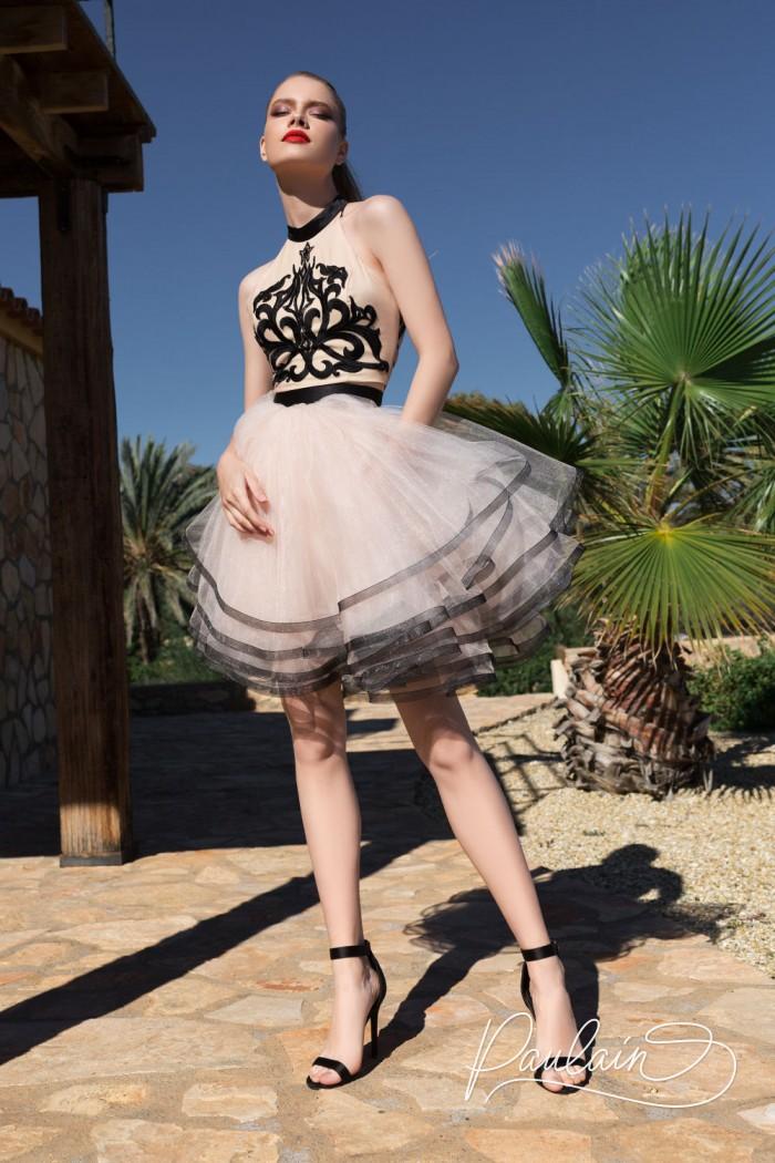 Незабываемый клубное платье с воздушной многослойной юбкой - ЗАКРЫТАЯ ВЕЧЕРИНКА | Paulain