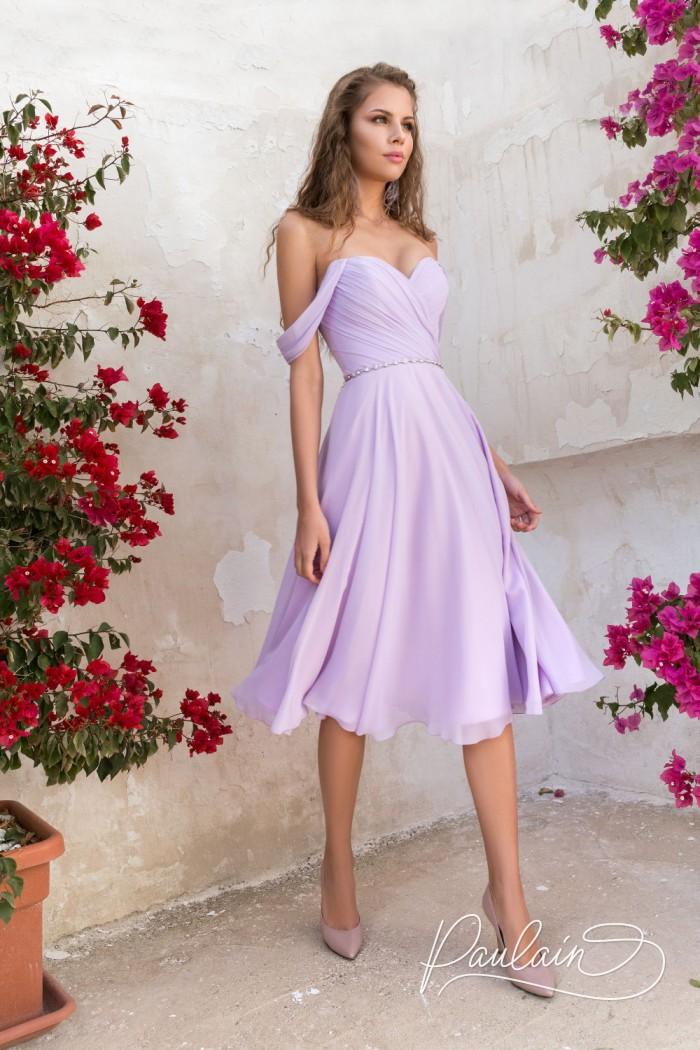 Легкое платье длины миди с открытыми плечами - ЛЕТО В ПРОВАНСЕ | Paulain