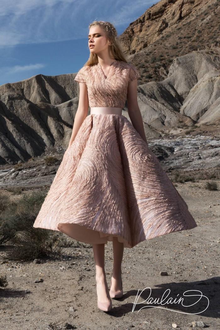 Эффектное платье из не менее эффектной фактурной ткани - ВЕТЕР ПЕРЕМЕН | Paulain