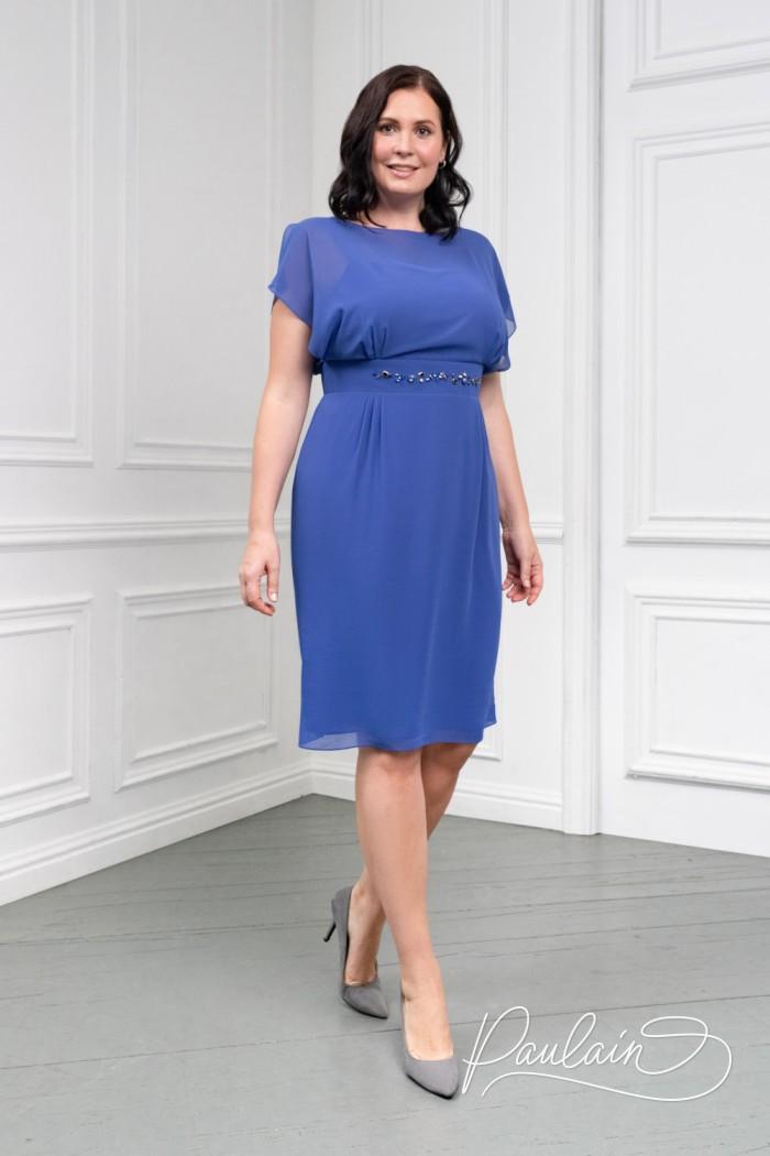Коктейльное платье из почти прозрачного жоржета классической длины - АНТЕЯ Классик | Paulain