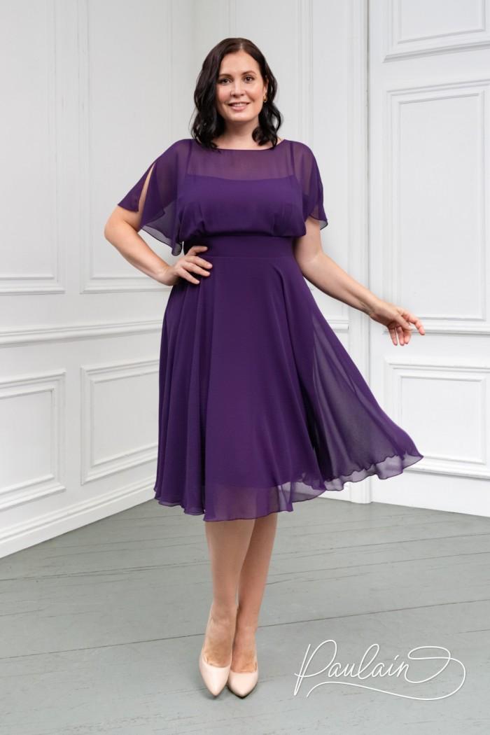 Легкое платье классической длины из невесомой ткани - ЛЕТТА Классик | Paulain