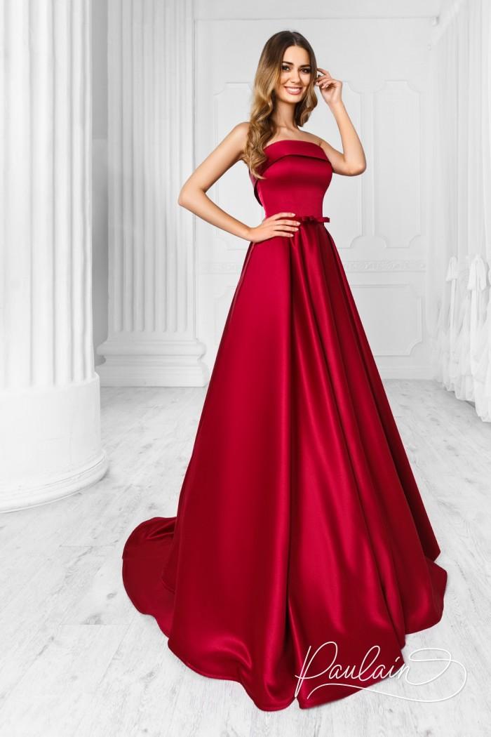 Впечатляющее вечернее платье королевского силуэта - ФАРИТЕЙЛ | Paulain