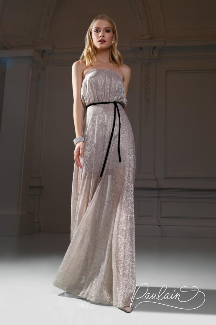 Открытое вечернее платье для романтичного образа юной богини - МАРУФ Макси | Paulain