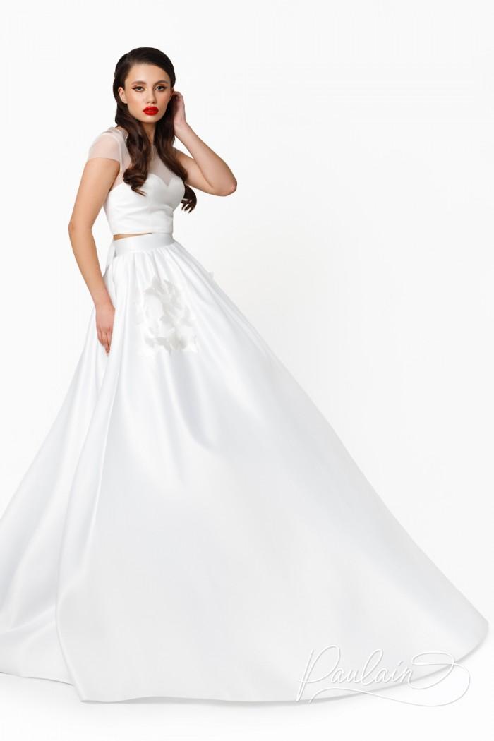 Раздельное свадебное платье из топа и шикарной юбки в пол - ШЕПОТ СЕРДЦА   Paulain