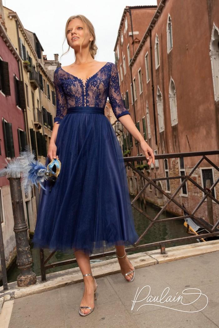 Очаровательное вечернее платье из тончайшего кружева и легкого фатина - КОНСУЭЛО   Paulain